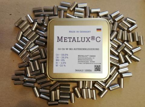 METALUX C - Зуботехничексий сплав для керамики, кобальт хромовый спав для керамики, зуботехнический сплав